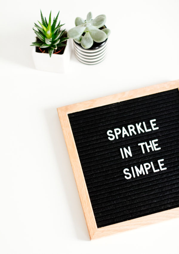 Sparkle in the Simple
