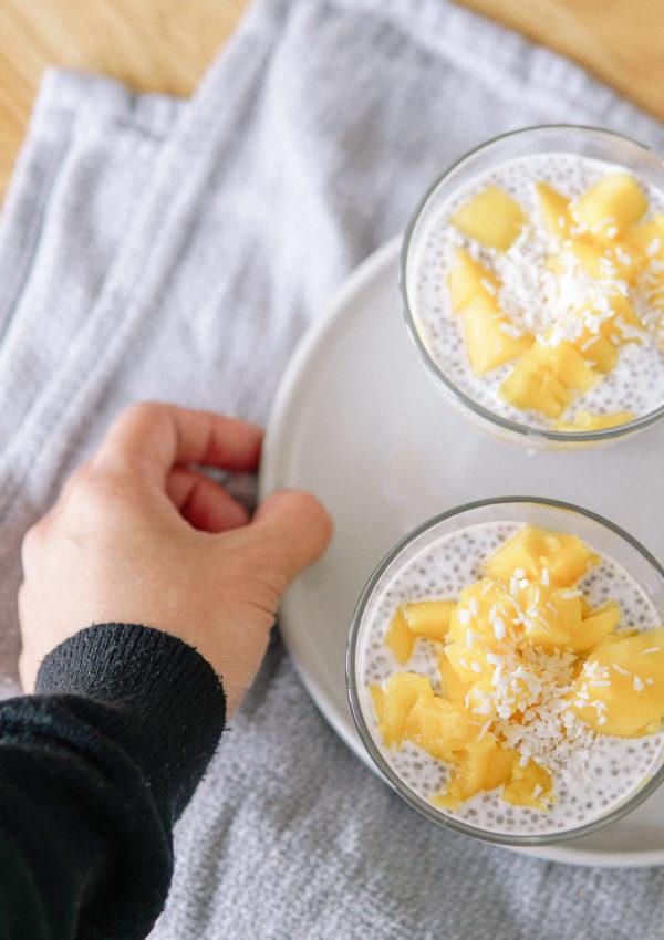 Simple Recipe No. 01: Chia Coconut Mango Pudding